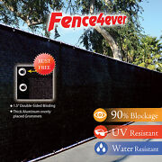 Black 4and039 5and039 6and039 8and039 Tall Fence Windscreen Privacy Screen Shade Cover Mesh Garden
