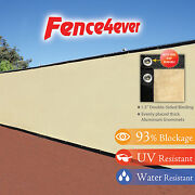 Tan Beige 4and039 5and039 6and039 8and039 Tall Fence Windscreen Privacy Screen Shade Cover Mesh Tarp