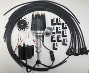 Ford Y Block 272-292-312 Black Small Hei Distributor +coil + Spark Plug Wires 90