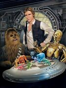 Chewbacca C3po Han Solo Star Wars Chess Let The Wookiee Win Art Giclandeacutee On Canvas