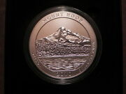 2010-p Np5 Mount Hood America The Beautiful 5oz Silver Coin Small Nick On Edge