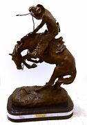 New Rattle Snake Bronze Collectible Sculpture By F. Remington H26 New