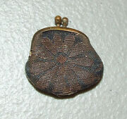 Antique 19th C. Victorian Advertising Change Purse Dollar Savings And Trust Co. Wv