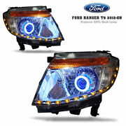 For Ford Ranger 12 13 14 Front Headlight Projector Ccfl Angel Eye Xenon Hid Led