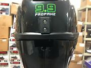 Lehr 9.9 Hp Propane Powered Outboard Engine Long Shaft Electric Start Opened