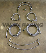 Front And Rear Brake Line Replacement Kit For 96-00 Honda Civic W/rear Drum