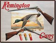 Remington Brand Shells Duck Hunting Advertising Tin Metal Sign Made In The Usa