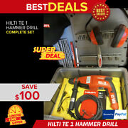 Hilti Te 1 Drill, Brand New, Lightweight, Free Drill Bits And Extras,fast Shipping