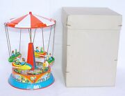 Bands Germany Blomer And Schüler Wild West Rocket Ride Wind-up Tin Toy Mib`60 Rare