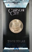 1882-cc Gsa Hoard Morgan Silver 1 Coin Anacs Ms-63 Toned Obverse As Issued 1f