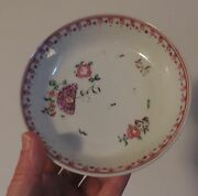 Antique 18th C. English Porcelain Plate In Chinese Export Taste Chelsea Derby