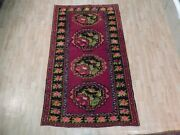 5and039 X 9and039 Rug Hand Knotted Caucasian Kazak Vivid Colors Rug Antique Collection