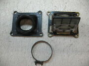 1982 Suzuki Rm 125 Rm125 Reed Valves + Intake Manifold With Clamp - No Dry Rot