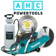 Makita Ek6100 12/300mm Petrol Disc Cutter Saw With Water Bottle And Diamond Blade