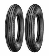 2 Shinko 5.00-16 Classic 270 Front And Rear Tire Set For Harleys Customs Bobbers