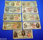 1869 Rainbow Series Legal Tender Set Reproduction Us Currency Paper Money Copy