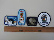 Lot Of 4 Sew On Patches - Cats Dogs Raccoons And Lombard Finance