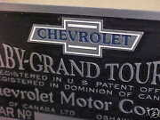 Early Chevrolet Baby Grand Aluminum Color Logo Data Plate 1917 - 1924