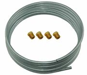 Oe Zinc Steel Brake Fuel Transmission Line Tubing 5/16 Od Coil Roll And Fittings