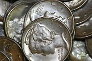 Fast Shipping Partial Roll Of 37 Uncirculated 1939-p Mercury Dimes Num2038