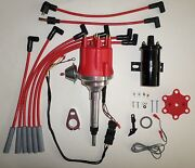 Small Cap Chevy Inline 6 Cylinder 194-235 Red Hei Distributor +black Coil +wires
