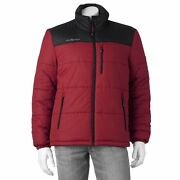 Nwt Menand039s Zeroxposur Quilted Puffer Colorblock Cobra Canyon Peak Jacket Bkrd