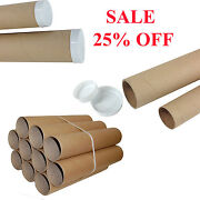 Postal Packing Tubes Cardboard A1 A3 A4 Poster Paper Extra Strong And Plastic Caps