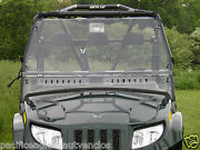 Deluxe Vented Clear Mr10 Lexan Windshield + Q C Clamps Arctic Cat Prowler Utv