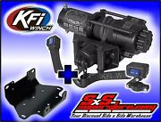 3500 Lb Kfi Stealth Winch Combo Yamaha Grizzly 700 2007-2015 Grizzly 550 2009-14