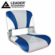 New Leader Accessories Detachable Gray/blue Marine Fishing Boat Seat
