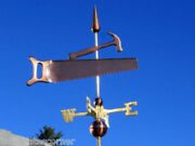 Copper  Saw And Hammer Weathervane Made In Usa 110