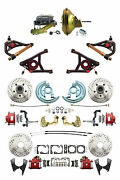 Gm 1967-72 A-body Four Wheel D/s Disc Brake Kit, 11 Power, Control Arms, Red Pc