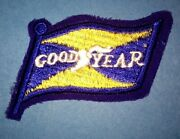 Vintage 1960and039s Goodyear Tires Nascar Sponsor Racing Gear Jacket Hat Patch Crest