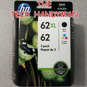 2-pack Hp Genuine 62xl Black And 62 Tri-color Ink Retail Box Officejet 5740 5742