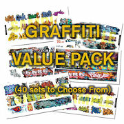 Ho Or N Scale Graffiti Decals Value Pack-40 Discount