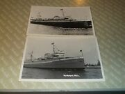 S. Two Old Postcards Rppc Milwaukee Clipper Muskegon Michigan Unused