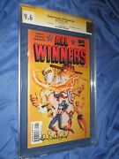 All Winners Comics 19 Cgc 9.6 Ss Signed Allen Bellman Captain America/timely