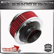3 Performance Cold Air Intake Filter Valve For Universal Cars Red