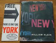 William Klein - New York 1956 1st Edition With Jacket And Brochure - Nice Copy