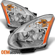 Fits 08-14 Rogue Halogen Headlights Replacement Left+right Pair 2008-2014 Light