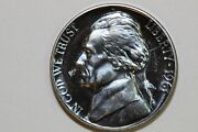 Nice Blue Toned Proof 1961 Jefferson Nickel Some Packaging Stuck To Coin Jpx452