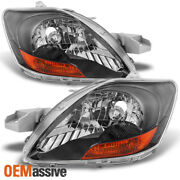 Fits 07-12 Yaris 4dr Sedan Headlight Front Lamps Replacement Pair Left + Right