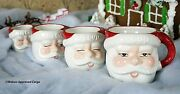 Pottery Barn Vintage Santa Measuring Cups -nib- A Perfect Ingredient For Fun