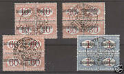 Italy Constantinople Sc J1-4 Mnh. 1922 Postage Dues Blocks Of 4