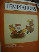 Temptations Santa In His Sleigh Plastic Canvas Kit- 20x11 Inches