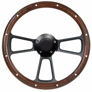 1955-57 Ford Thunderbird T Bird Steering Wheel Real Wood Adapter Kit
