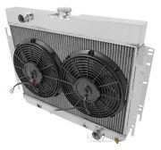 Champion Cooling Systems Cc289 3 Row Wr Aluminum Radiator And 12 Fan Combo