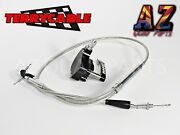 Banshee Large Carb Steel Braided Terrycable Throttle Cable Black Billet Thumb