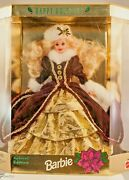 Barbie Doll Happy Hoildays Special Edition Burgundy White Gold Collectable Nib