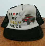 Vintage 70s Trucker Truck Snap Back Hat Cap 4x4 Mesh Ford Chevy Dodge Racing